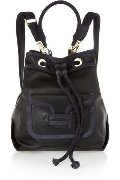 Pierre Hardy Suede-trimmed leather backpack NET-A-PORTER.COM