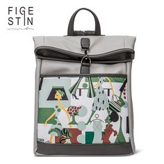 FIGESTIN Women's Backpacks Fashion Grey Yellow Preppy Style Stylish Backpack for Teenage Girls School Backpack Original Design♦️ SMS - F A S H I O N 💢👉🏿 http://www.sms.hr/products/figestin-womens-backpacks-fashion-grey-yellow-preppy-style-stylish-backpack-for-teenage-girls-school-backpack-original-design/ US $39.99