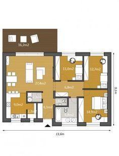 Projekty rodinných domů - projekt domu Optim100