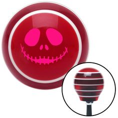 Pink Jack O Lantern Face Red Stripe Shift Knob with M16 x 15 Insert - Give your interior the ultimate look. American Shifter's Elite(TM) series shift knobs are made from the highest quality components resulting in a superior feel on every shift. Each shift knob is designed and customized in the USA by skilled shift knob artisans who have a trained eye on every detail. American Shifters shift knobs offers an exclusive aluminum threaded insert designed to be screwed onto your shift arm. You…