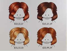 Brunette hair tutorial using Copic Markers =)