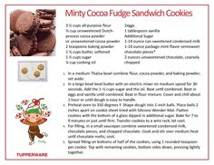 Tupperware Recipes, Candy Party, Sandwich Cookies, Unsweetened Cocoa, Fudge, Brownies, Food To Make, Make It Yourself, Canning