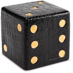 L'Objet Dice Decorative Box found on Polyvore featuring home, home decor, small item storage, black, black box, pattern box, inspirational home decor and black home decor