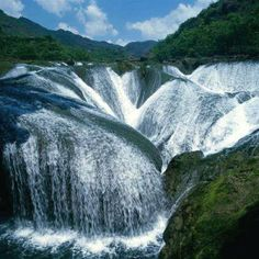 The Pearl Waterfall in China