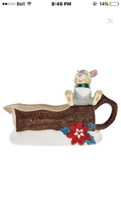 Thumper Happy Holidays Gravy Boat https://m.disneystore.com/drinkware-kitchen-dinnerware-home-decor-thumper-happy-holidays-gravy-boat/mp/1414472/1000350/