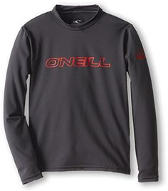 O'Neill Wetsuits UV Sun Protection Youth Basic Long Sleeve Sun Shirt Rash Guard Tee ** Be sure to check it out. Amazon Affiliate Program's Ads.