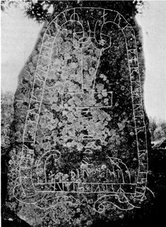 Thors hammer carved on Runestone   7th Century CE. Sweden