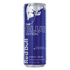 Red Bull Blue Edition Blueberry Energy Drink - 12 fl oz Can Red Bull Drinks, Normal Body, Carbonated Drinks, Cacao Beans, Beverage Packaging, Home Brewing, College Students, Energy Drinks, Blueberry
