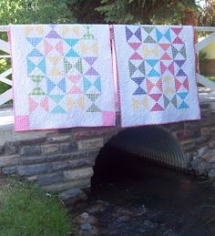 Gingham hourglass quilts
