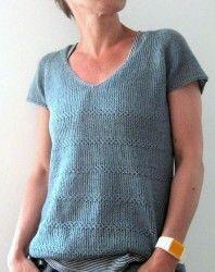 Вязаный спицами модный топ на лето 2016 с описанием от дизайнера Изабель Краемер