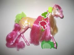 OMG - Fashion Star Fillies! I forgot my beautiful pink horse came with these totally rad accessories.