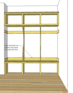 Ana white build a smiling mudroom free and easy diy for Diy adobe house