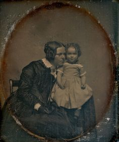 Over the Hills and Far Away - Mother and Daughter, 1/6th-Plate Daguerreotype, Circa 1848 (by lisby1)