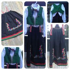 Vest Agder rynkestakk med Holum broderi Norway, My Girl, That Look, Vest, Costumes, Inspiration, Fashion, Biblical Inspiration, Moda
