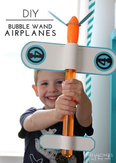Bubble wand airplanes for favors