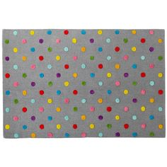 Kids' Rugs: Kids' Multi Color Dot Candy Grey Rug in Patterned Rugs land of nod Polka Dot Rug, Polka Dots, Bebe Love, Girls Rugs, Playroom Rug, Playroom Ideas, Nursery Ideas, Garage Playroom, Modern Playroom
