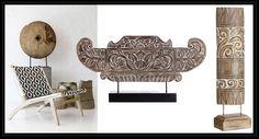 Exóticas figuras decorativas que te ayudarán a crear rincones originales y con personalidad como estas figuras acabadas en madera.