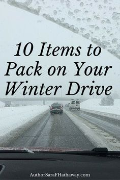 Be #prepared for your winter drive! Learn what you need for #survival. Feel free to add in anything you think I missed!