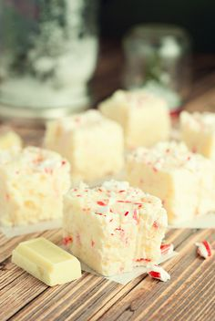 Decadent and delicious white chocolate peppermint fudge. Two beautiful flavors for the perfect winter treat. Penney Lane Kitchen