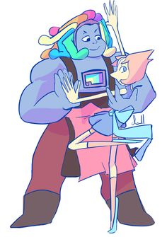 """pasteldall: """" ♡ (i hope they fuse) """". Bismuth"""