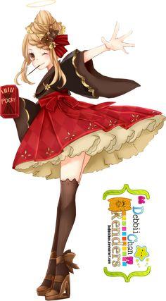 Anime Girl Render by debbiichan on DeviantArt
