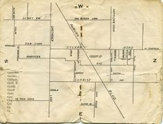 A map of Citrus Heights from a very early directory--published sometime in the 1930s, I believe (title page missing).