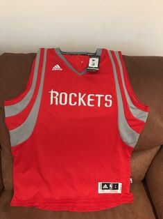adidas Swingman  110.00 Houston rockets Red nba jersey NWT size L Length+2  Men  c195c4c59