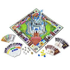 Disney Theme Park Monopoly Game.  Must have...maybe I'd actually play Monopoly if I had this one!