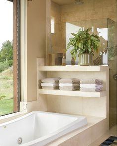 Window behind tub