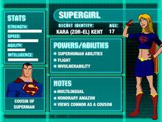 Supergirl Young Justice Stat Card - Season 3 by ArtemisChild12 on DeviantArt
