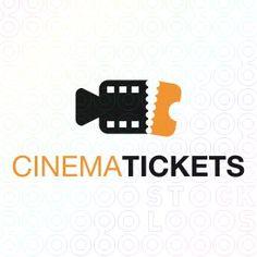 Exclusive Customizable Logo For Sale: Cinema Tickets   StockLogos.com