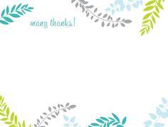 Printable Thank You Card Template | Harmonia Gift