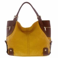 Melie Bianco Jennifer Corner Trimmed Hobo Handbag (Sunflower),$104.95