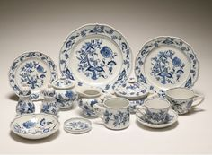 Blue Onion China - this is my china pattern. I have a complete setting for 8. Now I need serving pieces.