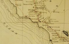 The SoCal stops along the Butterfield Overland Stage (this #map can be found at the #WellsFargoMuseum in #DTLA):