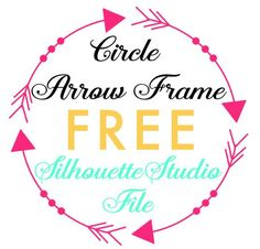Circle Arrow Frame: Free Silhouette Studio Cut File ~ Silhouette School