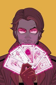 Gambit is my favorite XMen. Gambit by Jamie McKelvie Comic Book Characters, Comic Character, Comic Books Art, Comic Art, Book Art, Marvel Dc Comics, Marvel Heroes, Gambit X Men, Rogue Gambit