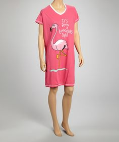 This Pink 'It's Been a Looong Day' Nightshirt - Women is perfect! #zulilyfinds