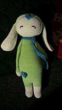 RITA the rabbit made by Marjan W. / crochet pattern by lalylala. So cute!