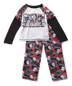 Look at this White & Red 'Star Wars Rebels' Pajama Set - Boys on #zulily today!