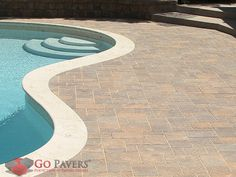 Belgrad Urbana Pavers' unassuming stones can nonetheless have a grand effect on your landscape thanks to the reimagining of vintage cut stone through the use of finely chiseled textures. Belgard Pavers, Pool Pavers, Outdoor Spaces, Outdoor Decor, In Ground Pools, Retirement, Curvy, Stones, Backyard