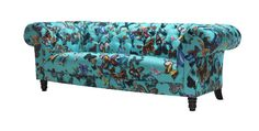 Christian Lacroix Butterfly Parade fabric for Sofa Workshop- Cherterfield Christian Lacroix, Designers Guild, Turquoise Sofa, Sofa Workshop, Mad About The House, Tufted Sofa, Large Sofa, Sofa Covers, Home Decor Accessories