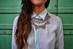 Collar azul tribal zara