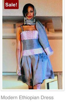 ethiopian dress  handmade modern  short  dresses for women  Habesha dress