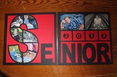 High School Senior Year Scrapbook - love this! Senior Scrapbook Ideas, School Scrapbook Layouts, Graduation Scrapbook, Scrapbook Sketches, Scrapbooking Layouts, Scrapbook Templates, Scrapbook Borders, Scrapbook Organization, Digital Scrapbooking