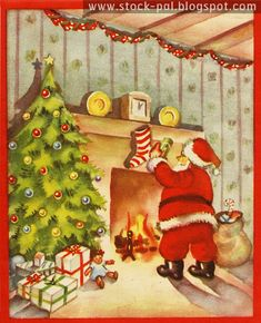 Holiday Images, Vintage Christmas Images, Retro Christmas, Vintage Holiday, Christmas Pictures, Christmas Art, Christmas Greetings, Christmas Holidays, Christmas Postcards