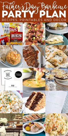 Father's Day BBQ Party Plan - get recipes for appetizers, dinner, dessert just for DAD! Plus Father's Day printable, activities, and more!