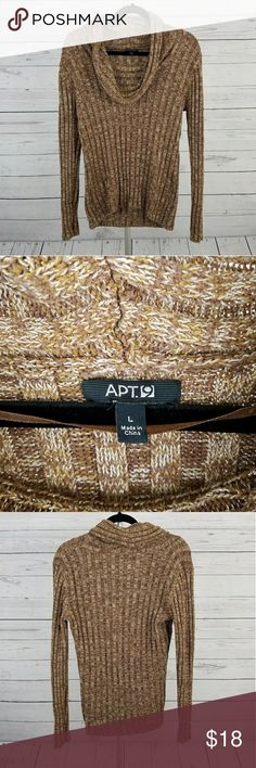 Women's Apt. 9 Cowl Neck Sweater Size Large This is a beautiful cowl neck sweater by Apt. 9 in size large. Apt. 9 Sweaters Cowl & Turtlenecks