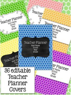 Teacher Planner - Rainbow Hexagonal Theme {redownload the updates for free each year}