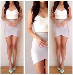 Tulip body con skirt